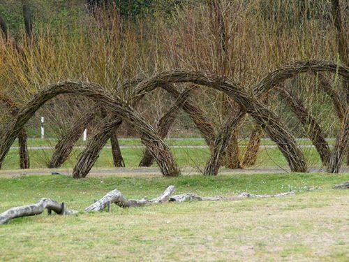 Country skills hurdles weaving willow
