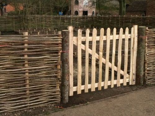 Country skills woven fence